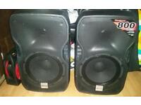 Alto 1600w active speakers with stands
