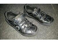 Boys black school shoes size 11G