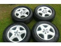 "VW T5 Touareg Amarok 4x alloy wheels and DUNLOP tyres 17"" 235 65 R17 5x120 ET55"