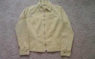 Cabi Women Solid Yellow Zip Front 100%Cotton Denim Jean Jacket.   Size M for sale  Sun City