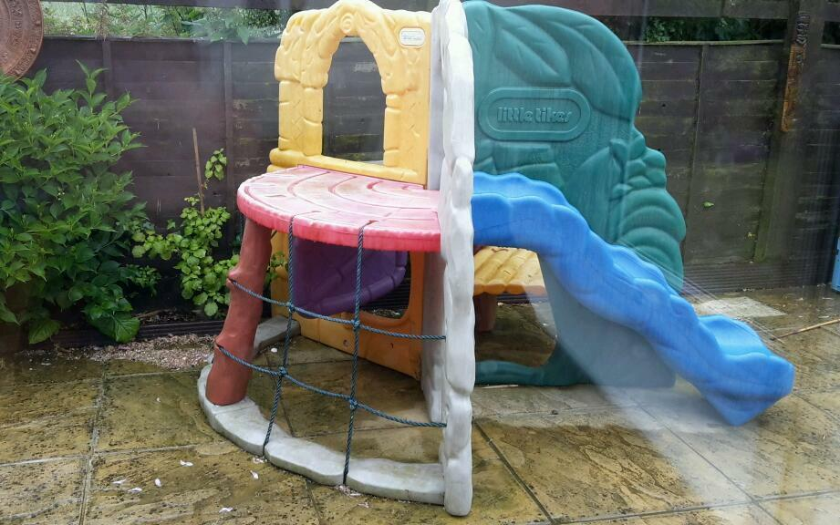 LITTLE TIKES JUNGLE CLIMBER Slide Garden Toy Play Climing