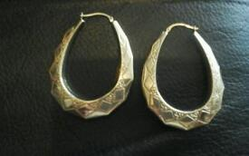 **Hallmarked** 9ct gold LARGE creole earings