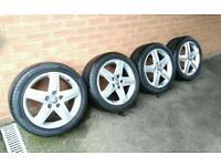 """Genuine Audi 17"""" alloys & tyres 235/45/17 5x112"""