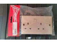 Caravan double electric socket