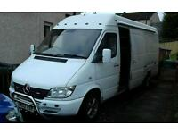2002 3 berth race support van, camper , dayvan, swap px considered