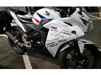 CBR 125 white + exhaust + upgrades - CBR125