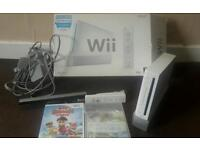 Wii console with 2 games