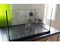 Open top fish tank