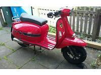 lambretta style scooter