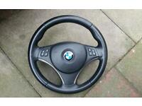 BMW M Sport Steering Wheel with Airbag e92 Coupe also Dash Full Electric Leather Interior