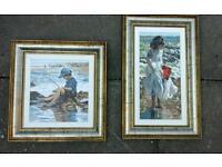 2x sherree valentine art paintings rare with coas