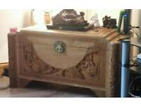 Hand carved chinese chest