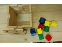 Wooden shape sorter cube
