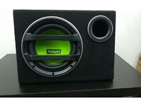 "FUSION EN-AB1100 10"" Active Amplified Bass Enclosure 750W Bass Subwoofer Sub"
