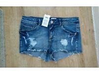 Brand new Asos denim shorts size 10