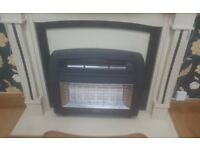 Marble fire place with heatet