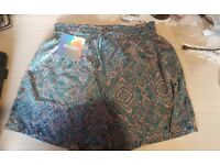 Misguided Paisley print shorts
