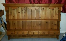 Solid pine wall hanging dresser