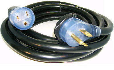 50' 220 Volt 50 Amp Heavy Duty 8/3 Welder Extension Cord Mig Tig Plasma