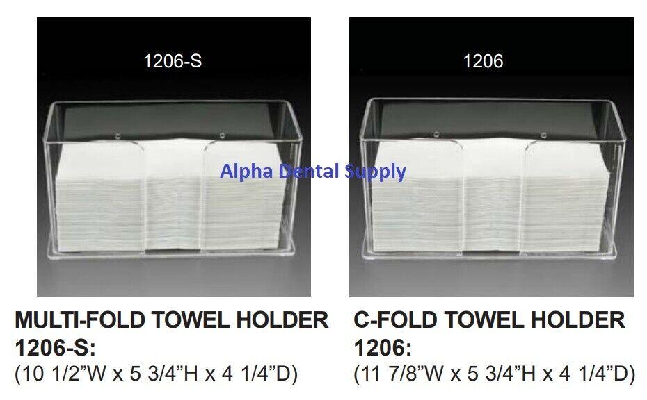 Plasdent Paper Towel Holder Dispenser MULTI-FOLD or C-FOLD C