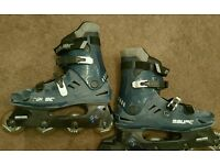 For sale is a pair of Bauer roller skates.