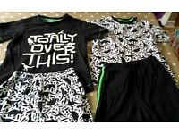 Two pairs of 6-7 year old Tu short pyjamas