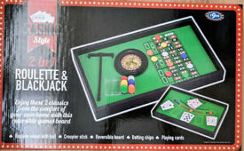 Roulette and Blackjack Board Game - NEW & BOXED £5
