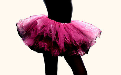 Black Tutu Womens (Junior Tutu Black Pink Womens Elegant Fashion Clothing Gift S/M intimate)