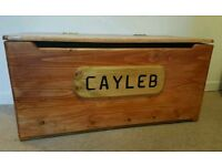 Handmade Personalised SOLID WOOD Toyboxes!!