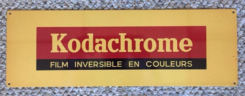 Kodak Film Kodachrome Camera Vintage Photo Photograph Antique French Steel Sign