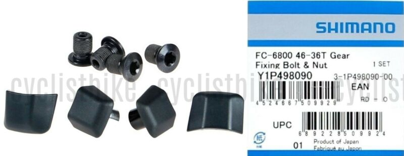 Shimano Ultegra FC-6800 Outer Chainring Bolt and Cap Set of 8