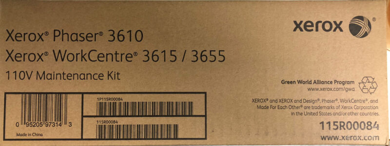 Genuine Xerox 115R00084 Maintenance Kit 110V Phaser 3610 WC 3615 3655 BNIB