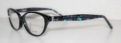 VERA WANG VA11 BLACK New Cats Eye Optical Eyeglass Frame For Women