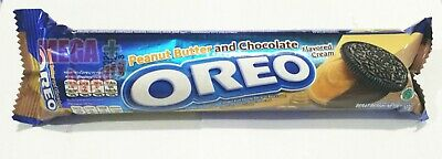 OREO Double Delight Chocolate Sandwich Cookie Peanut Butter Chocolate Cream 137g