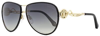 Roberto Cavalli Aviator Sunglasses RC1067 Gorgona 33C Gold/Black 61mm -