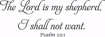 Psalm 23 1 V1 Bible Verse Wall Decals  Scripture  Vinyl Art  Stickers  Love