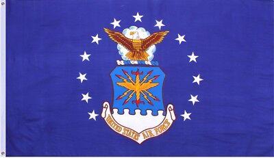 Blue Officially Licensed US Air Force Emblem Flag 3' x 5'
