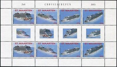 St. Maarten 2015 Schiffe Ships Navi Bateaux Kreuzfahrtschiffe Ocean Liners MNH - Caraibi Liner