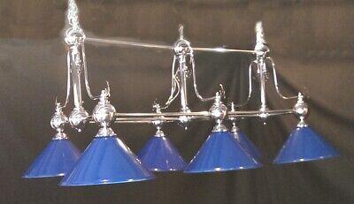 Candelabro Cromo Piscina Billar Comedor Mesa Luz Azul Sombras Dosel Iluminación