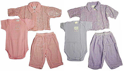 Giraffe Pant Set (Little Giraffe Baby Newborn Girls 3 Piece Crushed Velour Pant Set )