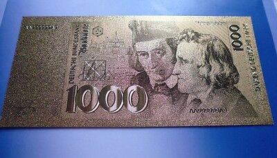 1000 DM / 24 KARAT GOLD / GOLDFOLIENNOTE GOLDBARREN #5107