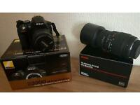 Nikon slr d3300 boxed 2 lenses