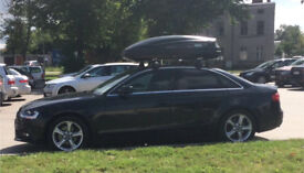 Audi a4 roof bars +fittings! complete set (roof box not included)
