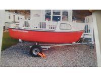 Family fisherman boat