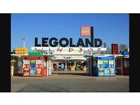 2 adult Legoland tickets - valid until 5th November