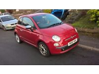 Fiat 500 1.2 ( Stop / Start) SPORT 2010 Low miles with Alloy Wheels