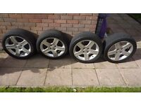 """17"""" Peugeot Ally wheels and tyres x4"""
