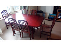 Mahogany Dark Wood Table and Chairs