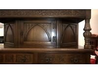 solid old charm sideboard / dresser from Liverpool cathedral