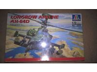 Airfix style model helicopter Apache